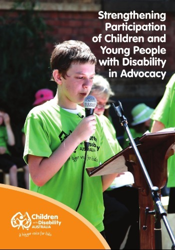 Strengthening participation of children and young people with disability in advocacy