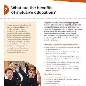 What are the benefits of inclusive education?