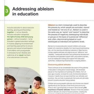 Addressing ableism in education