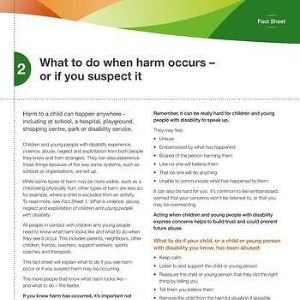 What to do when harm occurs - or you suspect it