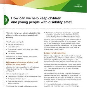 How can we help keep children and young people with disability safe?
