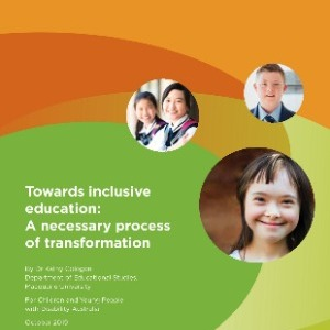 Towards inclusive education: A necessary process of transformation