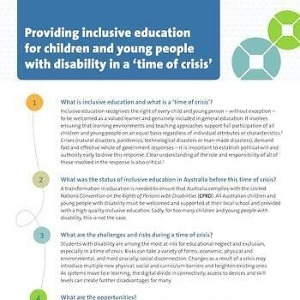 ACIE providing inclusive education in a time of crisis - Principles & recommendations