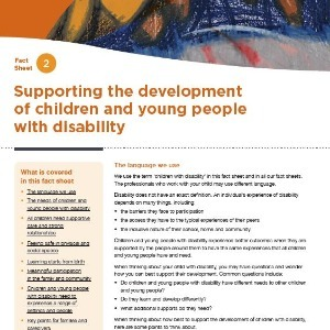 Supporting the development of children and young people with disability