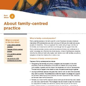 About family-centred practice
