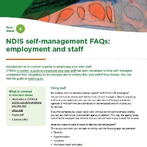 NDIS self-management FAQs: employment and staff